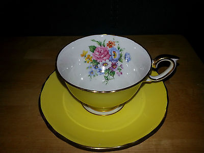 Crown Staffordshire Yellow Cup & Saucer Cup & Saucer