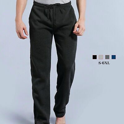 Mens Fleece Track Pants Trousers Gym Sport Casual Tracksuit S - 3XL 4XL 5XL 6XL