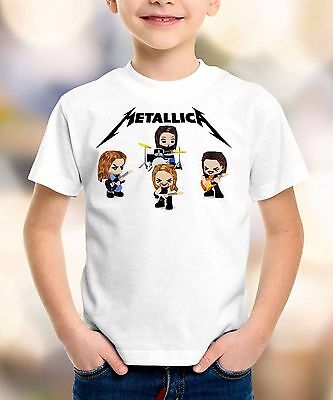metallica cartoon t shirt metallica shirt children clothing toddler kid size:1-8