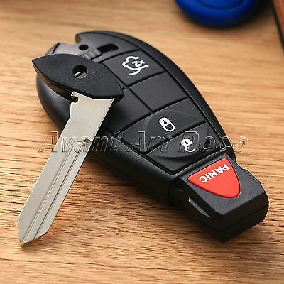 Replacement 4 Button Remote Key Fob Case Shell Clicker Blade for Chrysler Dodge