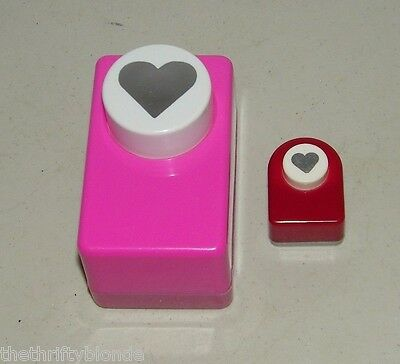 2 Heart Punch Punches Large Small Paper 17061