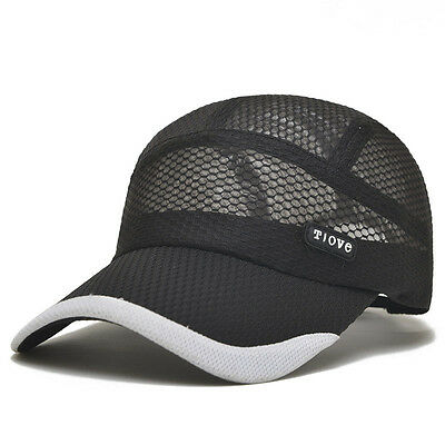 2016 Fashion Mens Outdoor Sports Baseball Cap Flat-Brimmed Quick-Drying Mesh Ha