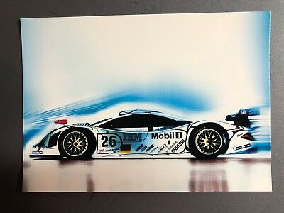 1996 Porsche 911 GT1 Factory issued Post Card Postcard Collector Card RARE L@@K