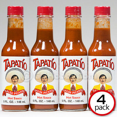 Tapatio Salsa Picante Authentic Hot Sauce - 5 oz (Four Bottles)