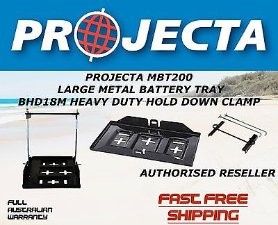 Projecta Mbt200 Large Metal Battery Tray&projecta Bhd18M Battery Hold Down Clamp