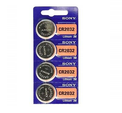 4 NEW SONY CR2032 3V Lithium Coin Battery Expire 2025 FRESHLY NEW - USA Seller