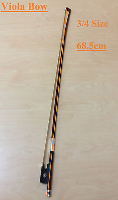 Brand New Caraya Model A Brazilwood 3/4 Size Viola Bow – Real Horse Hair