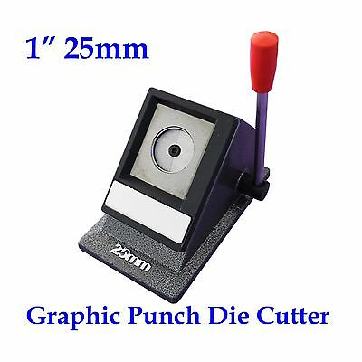 Multi Sheets Round 1In 25mm Stack Cutter Button Maker Paper Graphic Punch Die