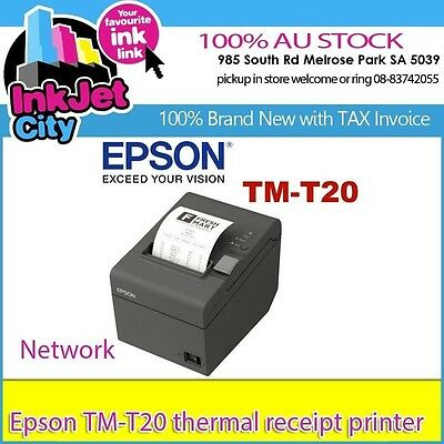New EPSON TM-T20 POS Thermal Receipt Printer built-in Ethernet (VPN:C31CB10043)