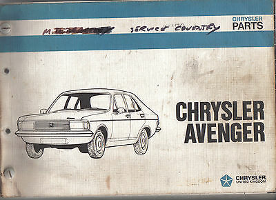 Chrysler Avenger Illustrated Parts List Ref. No. 7660165 Multilanguage