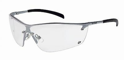 BOLLE Silium Clear Lens Metal Frame GLASSES Safety Cycling Skiing NEW SEALED