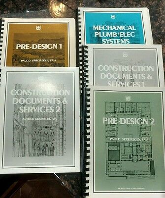 Architectural License Seminars Book Lot Of 5