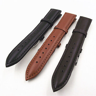 Gents/Ladies Basic Pu Leather Watch Strap -Padded 18-22 MM + 2 pins