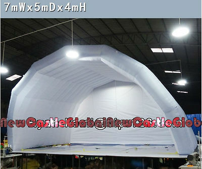 """custom made 22'12""""W X 13'1""""H X 16'5""""D inflatable stage cloth tent with blower"""