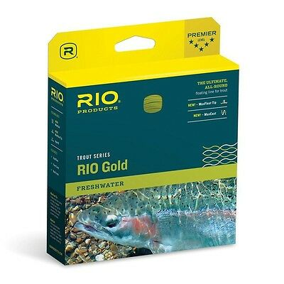 RIO PRODUCTS RIO Gold Fly Line Floating Weight Forward WF Moss/Gold