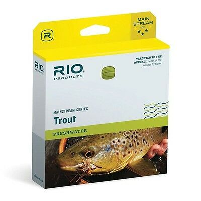 RIO MainStream Fly Line Weight Forward Floating Lemon Green Trout Fishing