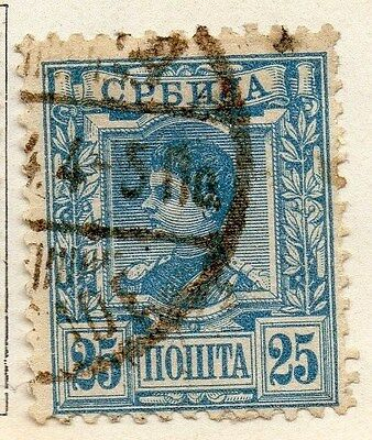Serbia 1890 Early Issue Fine Used 25pa. 054915