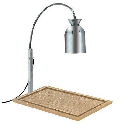 Nemco - 6016-C - Chrome Carving Station Bulb Warmer with Wood Base