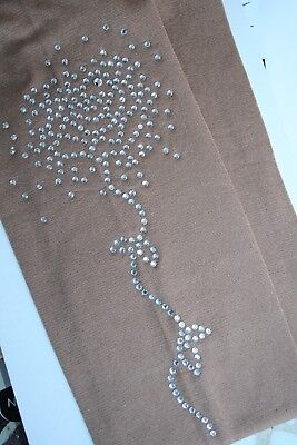 LOVELY LONG CRYSTAL MOTIF -OVER BOOT or FOOTED ICE SKATING BOOT TIGHTS