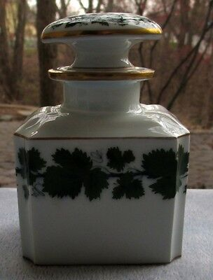Meissen Full Green Vine Bottle or Decanter Germany