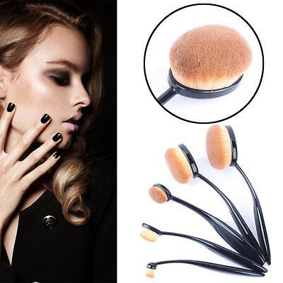 5pcs Toothbrush Shaped Foundation Power Makeup Oval Cream Puff Brushes Set UK