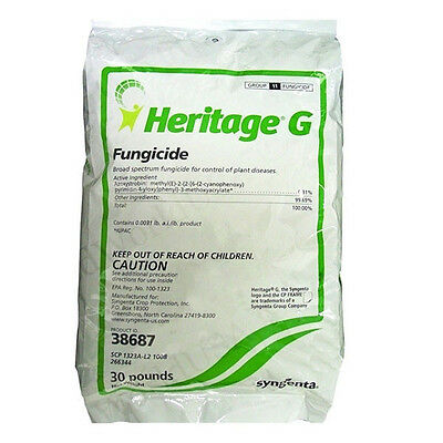 Syngenta HERITAGE G Granular Fungicide (Azoxystrobin) - 30 Lbs. FREE SHIP