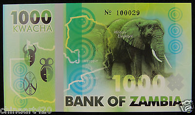 Zambia Elephant Commemorative Polymer Banknote 1000 Kwacha PRIVATE FANCY 2015
