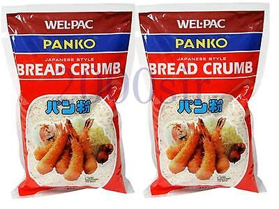 Wel Pac Japanese Bread crumbs Panko 2 Packs of 6 oz FREE SHIPPING NEW STOCK