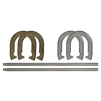 Franklin Sports Recreational Horseshoe Set, 4 Pitching Horseshoes and 2 Posts