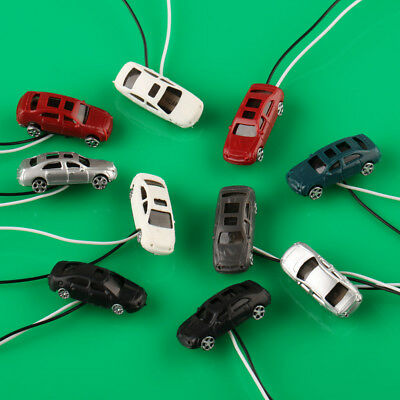 10pcs 1:200 Z Scale Building Street Flaring Light Model Car Train Scenery Layout