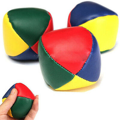 3 Juggling Balls Circus Clown Coloured Learn to Juggle Toy Game Soft FUNNY