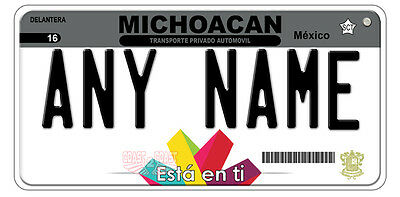 Michoacan Mexico Auto Novelty License Plate 005 NEW STYLE 2016