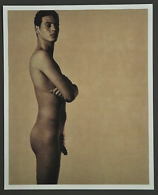 Karl Lagerfeld Limited Edition Photo 29x36cm Ivan Abujamra 1997 Male Akt Nude