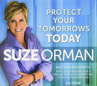 Suze Orman - Protect Your Tomorrows Today, CD-ROM, Ships in 12 Hours!!!