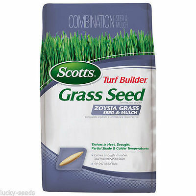 (On Backorder) Scotts Zoysia Grass Seed and Mulch - 5 Lbs.