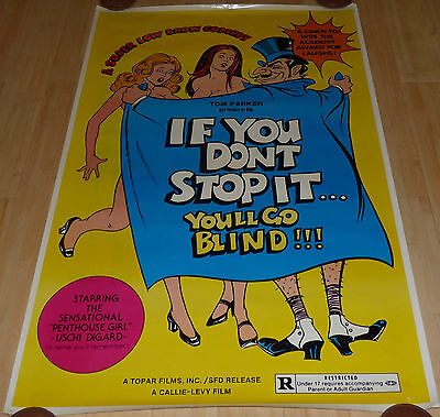 If You Don't Stop It You'll Go Blind 1975 Original Rolled 1 Sheet Movie Poster