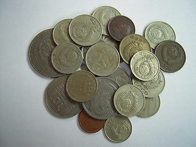 LOT of (22) WORLD COINS, Russia, Mexico, Netherlands..various dates