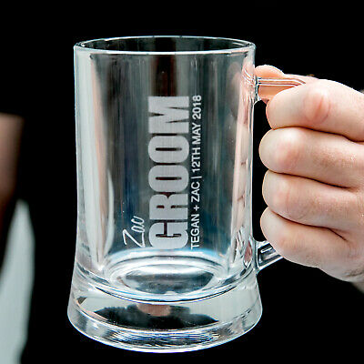 BOLD Personalised Favours Beer Glasses for Groomsmen - Father of the Bride Gift
