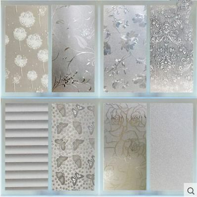 Frosted Flower Circle Window Glass Film Sticker Privacy Bedroom Bathroom Home