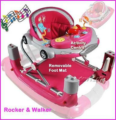 New Musical Baby Walker Rocker 4in1 w Stoppers and Toys Play Centre Great Gifts