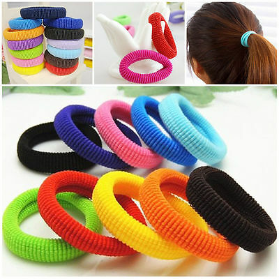 50Pcs Kids Girl Lady Elastic Rubber Hair Bands Ponytail Holder Head Rope Ties S4