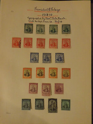 Trinidad and tobago collection mint and used nicely written up on 19 19 album