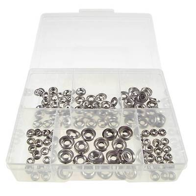 Qty 300 Cup Washer Kit 4g 6g 8g 10g 12g 14g Stainless Steel Finishing SS 304 #25
