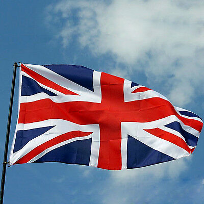 New Union Jack Flag 5ft x 3ft Large - 100% Polyester - 2 Metal Eyelets
