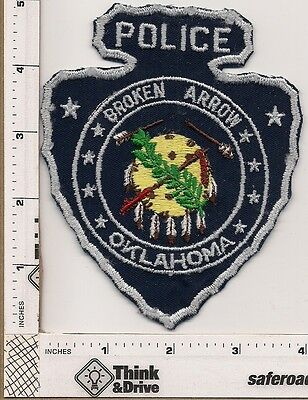 Broken Arrow Police. Oklahoma. Old patch cheesecloth backing.