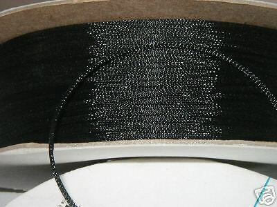 1/8 BRAIDED EXPANDABLE  SLEEVING  PET loom  100ft BLACK