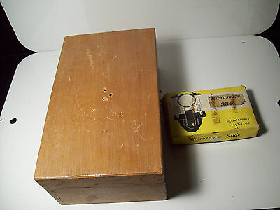 Vintage Microscope and slides