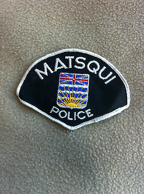 Vintage 1970's Matsqui BC Police Patch