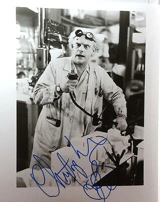Back to Future Autograph 8x10 Photo Signed by Christopher Lloyd (LHAU-298)