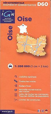 Map of Oise, France, by IGN Map #D60